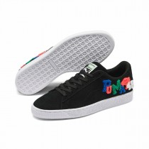 Puma Suede Classic Embroidered Badges Sneakers Noir 371580-01