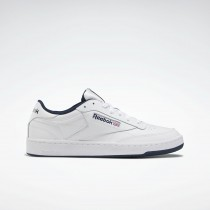 Homme Reebok Classic Club C 85 Soft Leather Blanche Navy AR0457