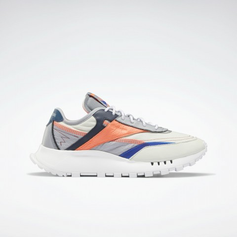Reebok Classic Leather Legacy Pure Chaussures Morning Fog/Cool Shadow/Orange FZ2921