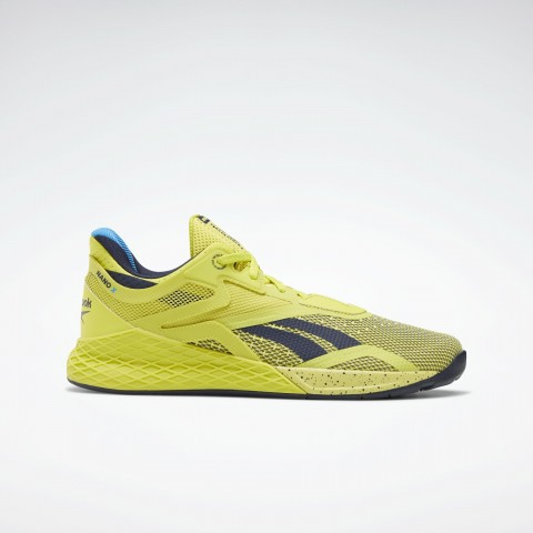 Reebok Nano X Chaussures Chartreuse/Vector Navy/Blanche FW8128